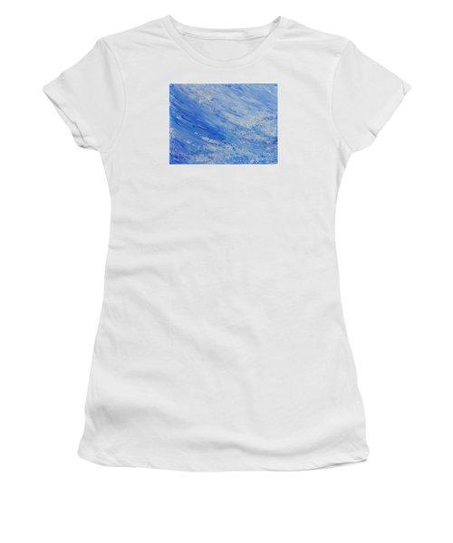 Blue Women's T-Shirt (Junior Cut) by Teresa Wegrzyn