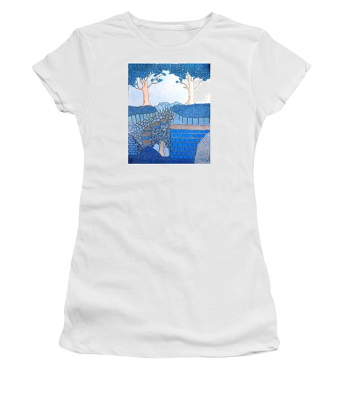 Blue Trees Women's T-Shirt (Athletic Fit)