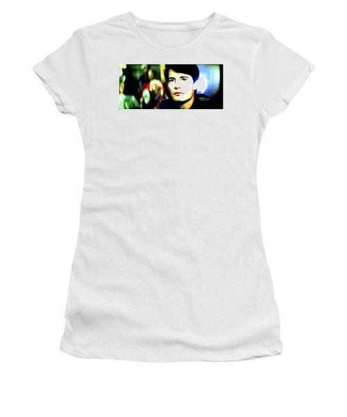 Blue Velvet  Women's T-Shirt (Junior Cut) by Luis Ludzska