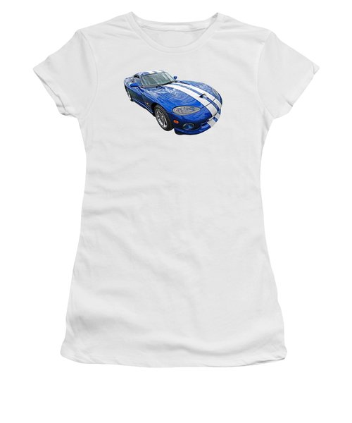 Blue Viper Women's T-Shirt (Junior Cut) by Gill Billington
