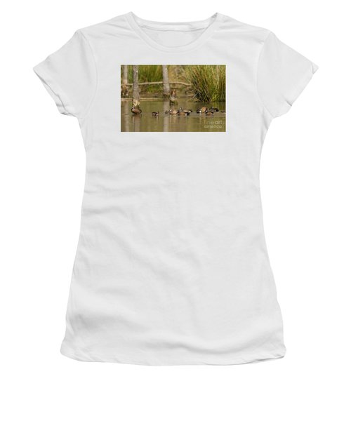 Blue-winged Teal Women's T-Shirt (Athletic Fit)