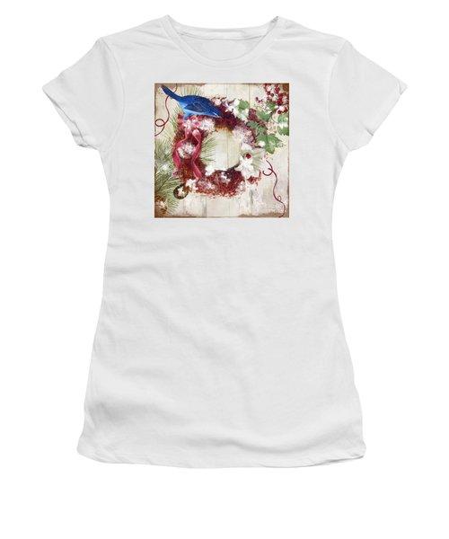 Bluebird Christmas I Women's T-Shirt