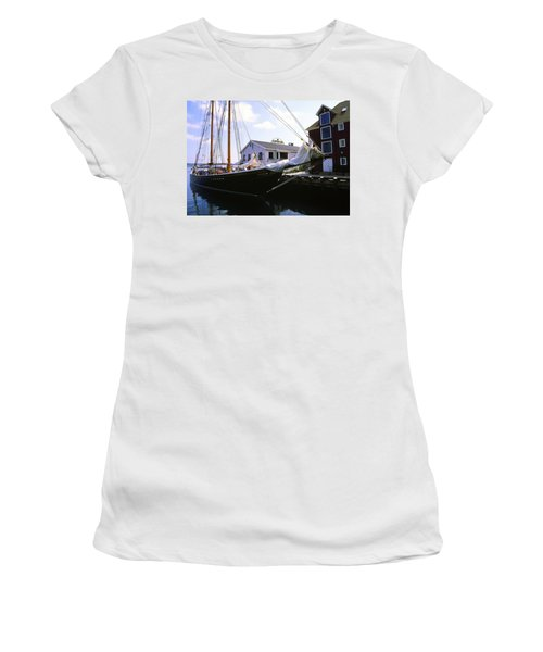 Bluenose II At Historic Properties Halifax Nova Scotia Women's T-Shirt (Athletic Fit)
