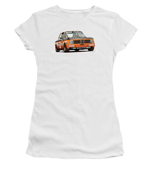 Bmw 2002 Alpina Illustration Women's T-Shirt (Junior Cut) by Alain Jamar