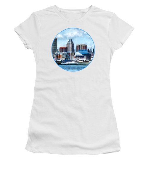 Boat - Baltimore Skyline And Harbor Women's T-Shirt