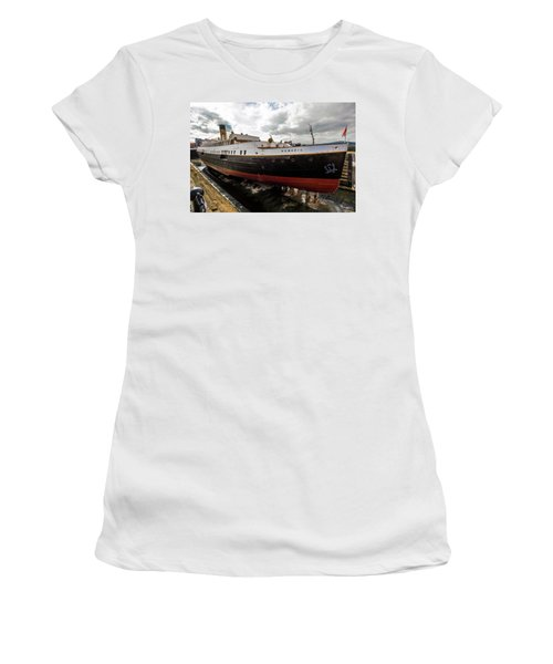 Boat In Drydock Women's T-Shirt (Athletic Fit)