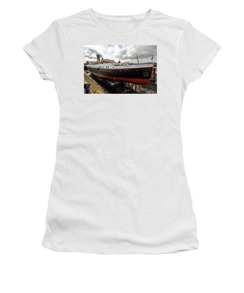 Boat In Drydock Women's T-Shirt (Athletic Fit)