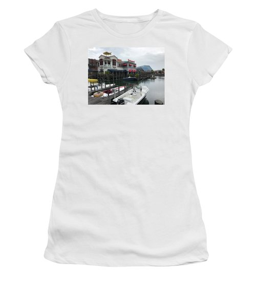 Women's T-Shirt (Junior Cut) featuring the photograph Boat Yard by Michael Albright