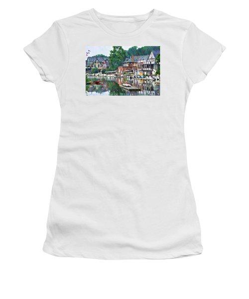 Boathouse Row In Philadelphia Women's T-Shirt