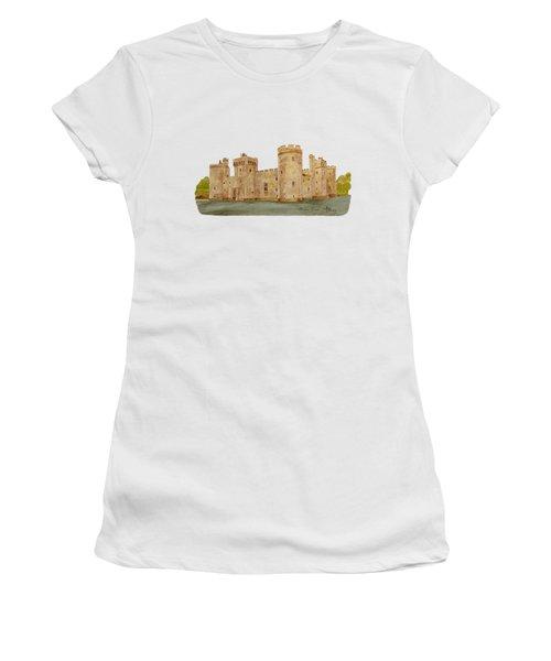 Bodiam Castle Women's T-Shirt (Junior Cut) by Angeles M Pomata