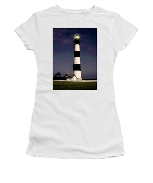 Women's T-Shirt featuring the photograph Bodie Island Light Station by Penny Lisowski