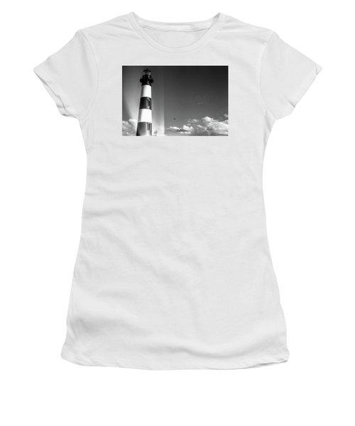 Bodie Island Lighthouse Women's T-Shirt (Junior Cut) by David Sutton