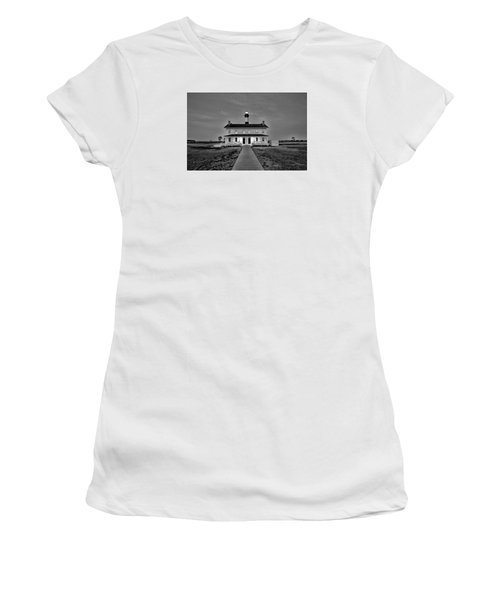 Bodie Lighthouse Night Women's T-Shirt (Junior Cut) by Marion Johnson