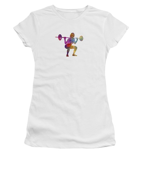 Body Buiding Woman Isolated Women's T-Shirt