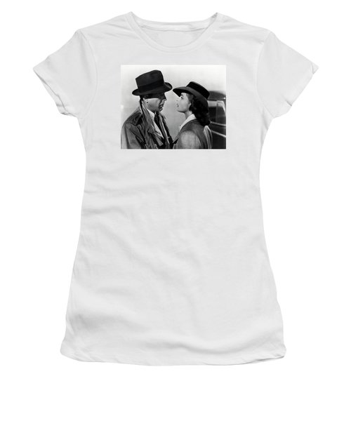 Bogey And Bergman Casablanca  1942 Women's T-Shirt (Athletic Fit)