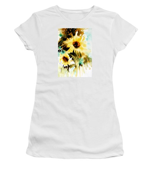 Women's T-Shirt (Junior Cut) featuring the painting Bold And Beautiful by Rae Andrews