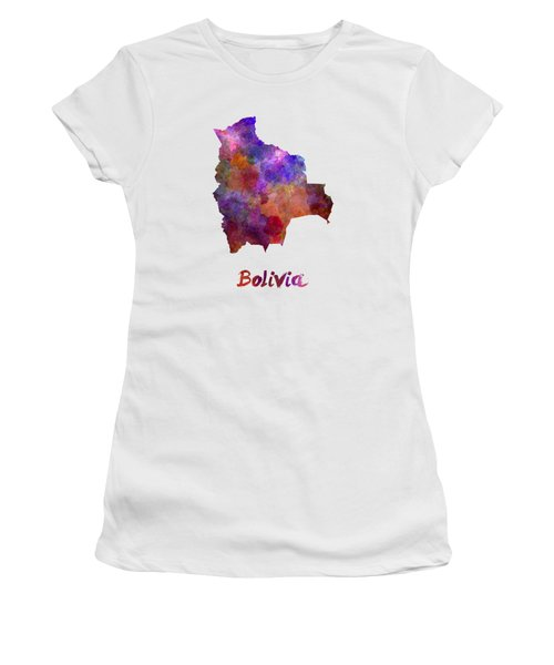 Bolivia In Watercolor Women's T-Shirt