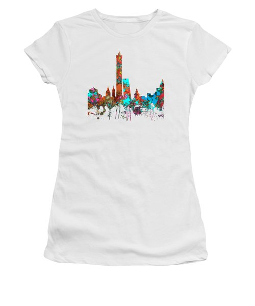 Bologna Italy  Skyline  Women's T-Shirt (Junior Cut) by Marlene Watson