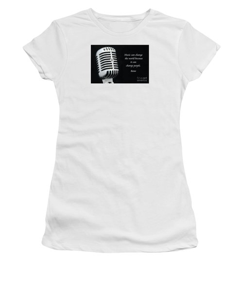 Bono On Music Women's T-Shirt (Athletic Fit)