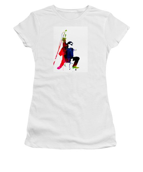 Bono Watercolor Women's T-Shirt (Athletic Fit)