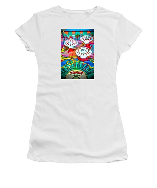 Bonus Points - Pinball Women's T-Shirt (Athletic Fit)