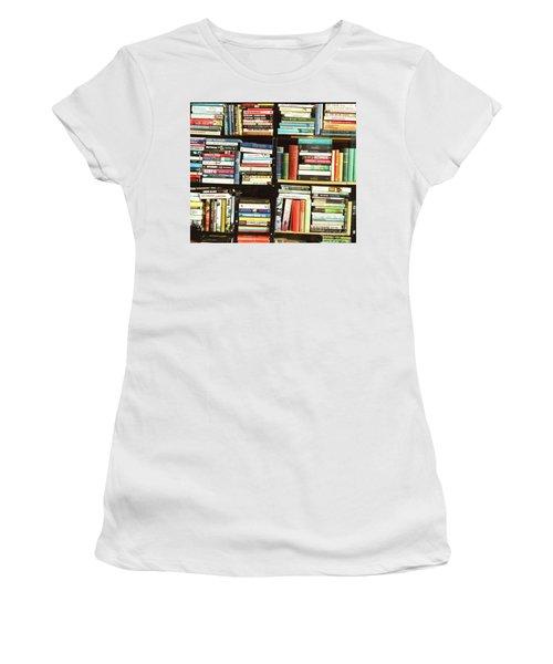 Book Shop Women's T-Shirt (Junior Cut) by Rebecca Harman