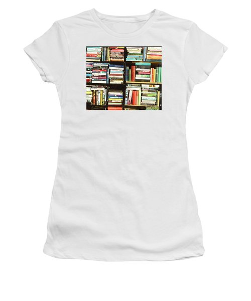 Women's T-Shirt (Athletic Fit) featuring the photograph Book Shop by Rebecca Harman