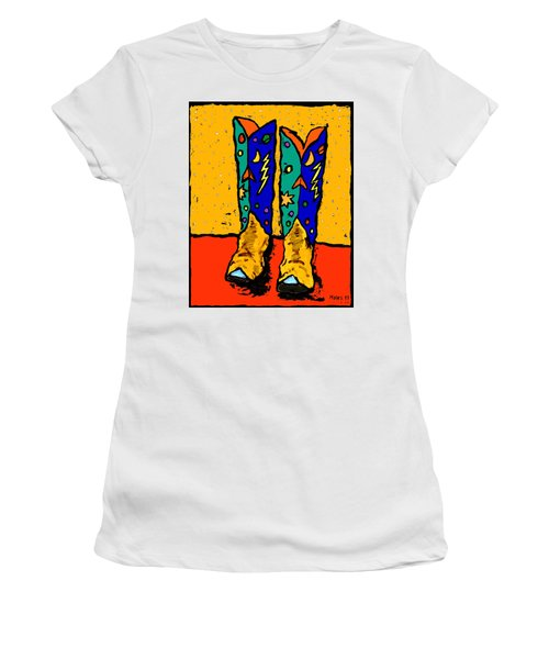 Boots On Yellow 24x30 Women's T-Shirt (Athletic Fit)