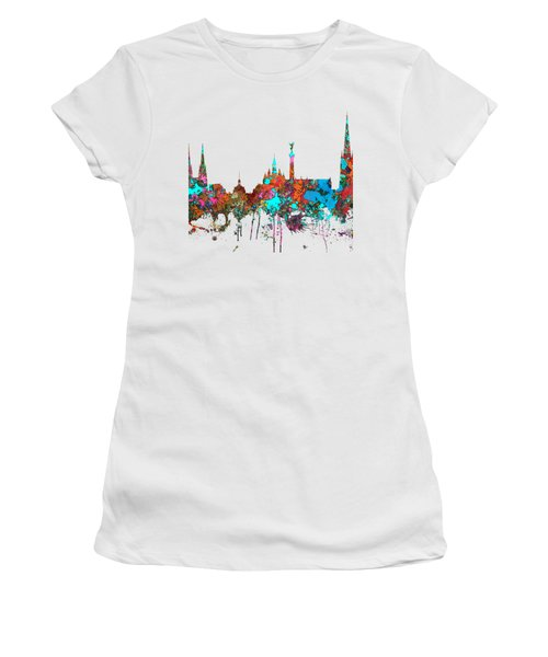 Bordeaux France  Skyline  Women's T-Shirt (Junior Cut) by Marlene Watson