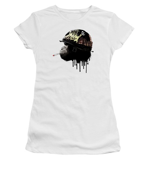Born To Kill Women's T-Shirt (Athletic Fit)