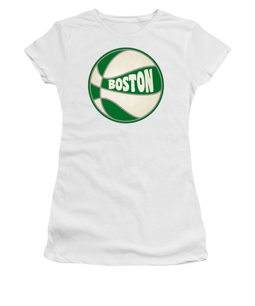 Women's T-Shirt (Junior Cut) featuring the photograph Boston Celtics Retro Shirt by Joe Hamilton