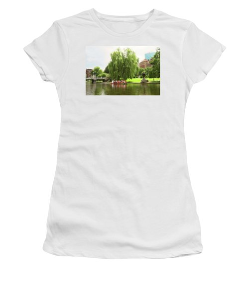 Boston Garden Swan Boat Women's T-Shirt