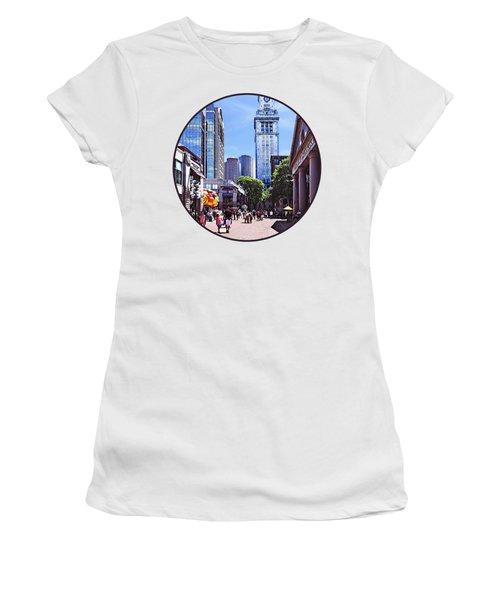 Boston Ma - Quincy Market Women's T-Shirt
