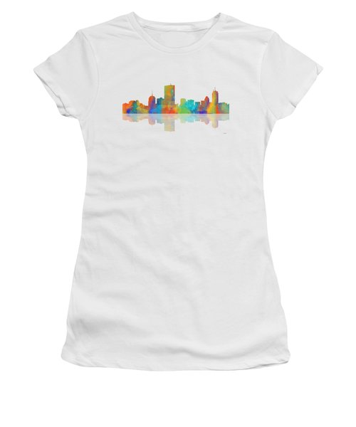Boston Ma. Skyline Women's T-Shirt (Athletic Fit)