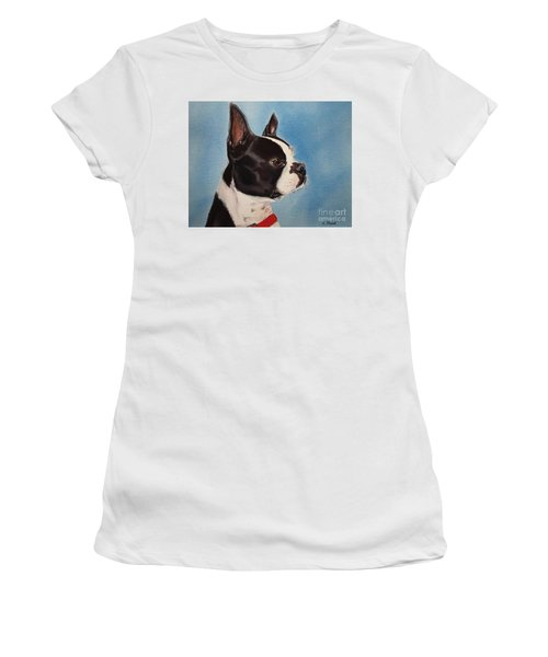 Boston Terrier Women's T-Shirt (Athletic Fit)