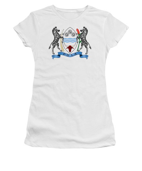 Botswana Coat Of Arms Women's T-Shirt (Junior Cut) by Movie Poster Prints