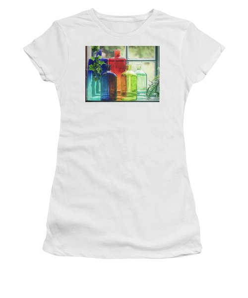Bottles In The Window Women's T-Shirt (Athletic Fit)
