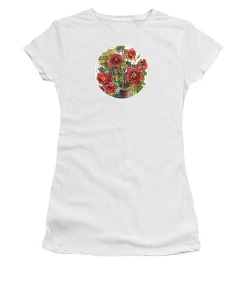 Bouquet Of Poppies Women's T-Shirt (Junior Cut) by Mary Wolf