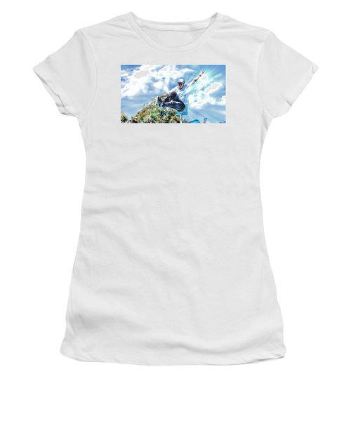 Bowlriders, Skateboarder Women's T-Shirt (Athletic Fit)
