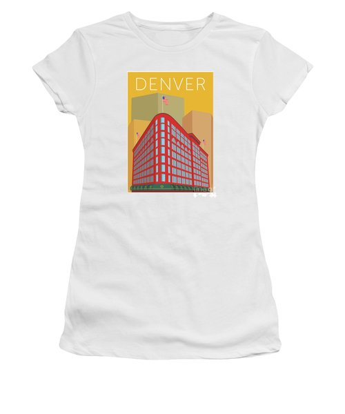 Denver Brown Palace/gold Women's T-Shirt (Athletic Fit)