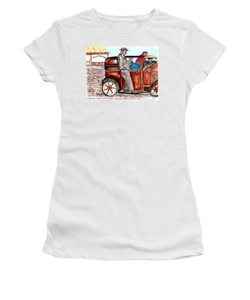 Bracco Candy Store - Window To Life As It Happened Women's T-Shirt (Junior Cut) by Philip Bracco