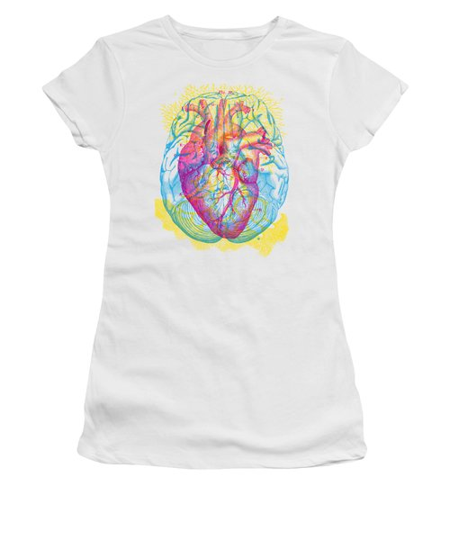 Brain Heart Circulation Women's T-Shirt (Athletic Fit)
