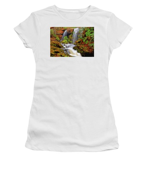 Brasstown Falls 013 Women's T-Shirt (Junior Cut) by George Bostian