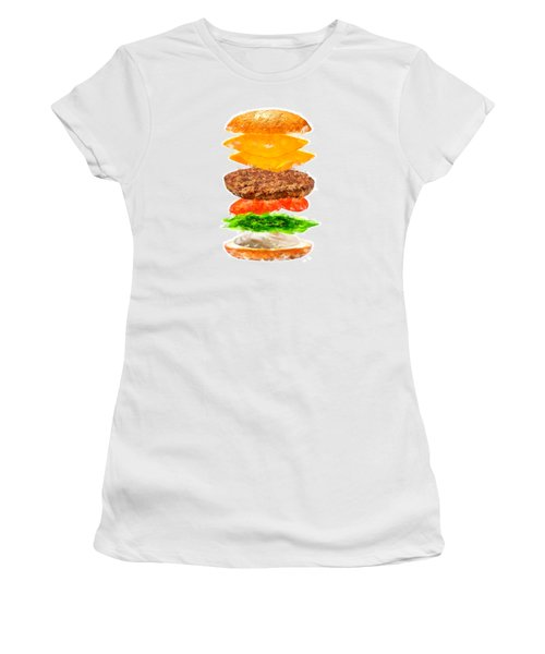 Brazilian Salad Cheeseburger Women's T-Shirt (Athletic Fit)