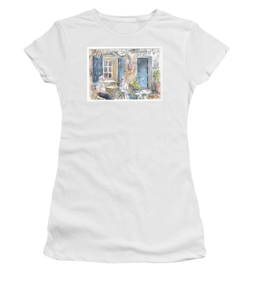 Breakfast Al Fresco Women's T-Shirt (Athletic Fit)