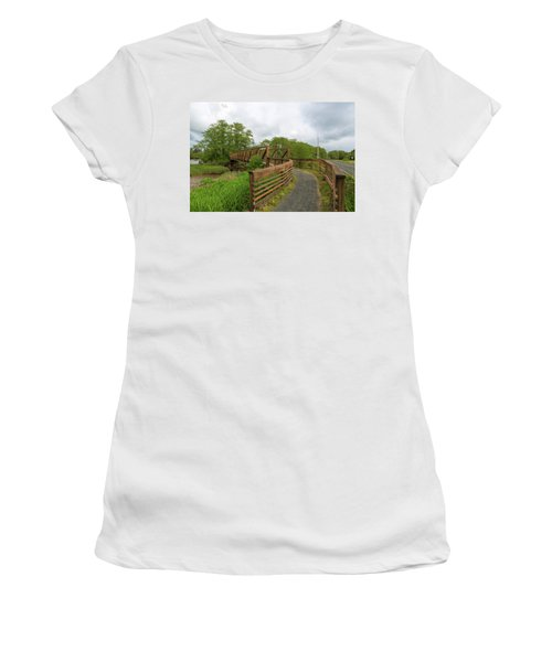 Bridge Along Lewis And Clark Hiking Trail  Women's T-Shirt (Athletic Fit)