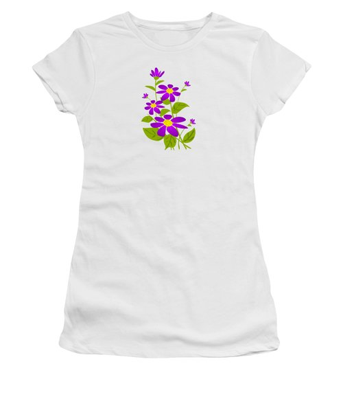 Bright Purple Women's T-Shirt (Junior Cut) by Anastasiya Malakhova