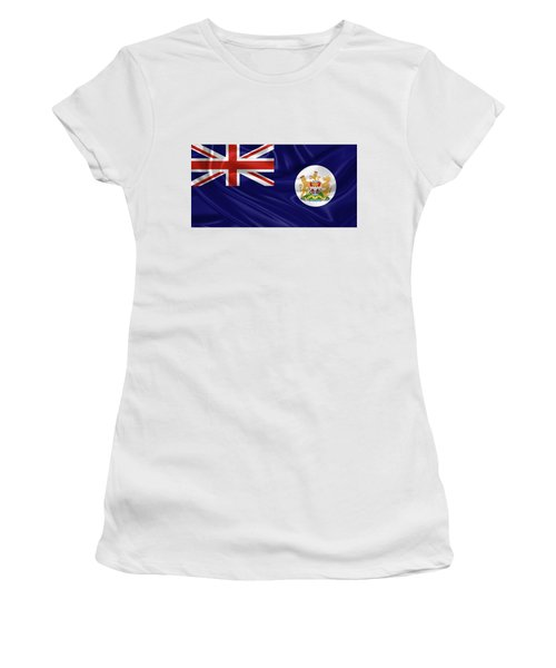 British Hong Kong Flag Women's T-Shirt (Junior Cut) by Serge Averbukh