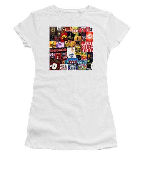 Broadway 10 Women's T-Shirt (Junior Cut) by Andrew Fare