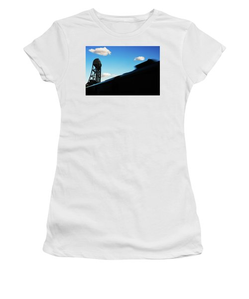 Broadway Bridge Abstract 1 Chromatic Women's T-Shirt (Athletic Fit)